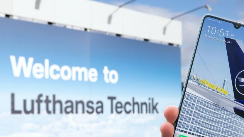 Lufthansa Technik und Vodafone starten 5G Campus-Netz in einem Flugzeug-Hangar in Hamburg