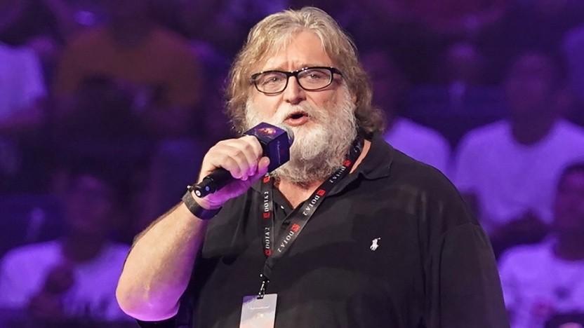 Gabe Newell im Jahr 2019 auf einer E-Sport-Veranstaltung in China