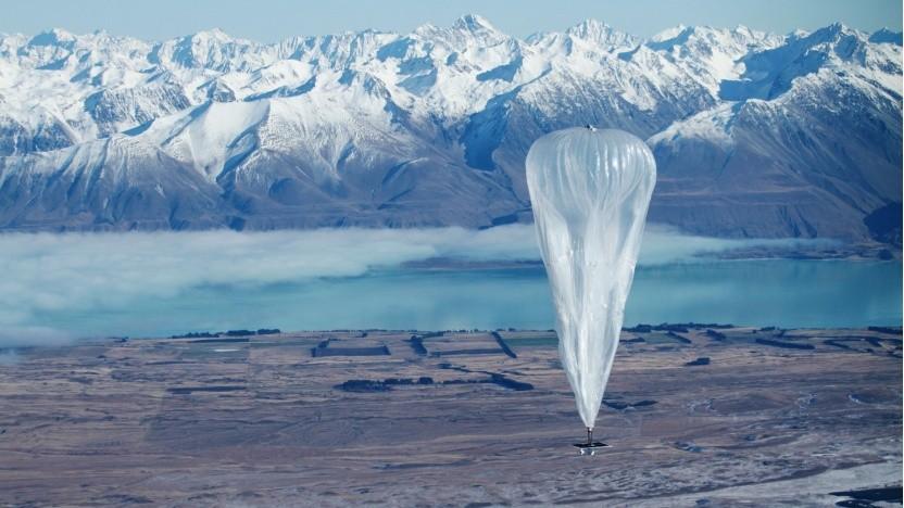 Loon-Ballon: Die Ballone werden in den kommenden neun Monaten zur Erde zurückkkehren.
