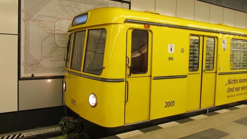 Eine U-Bahn der BVG.