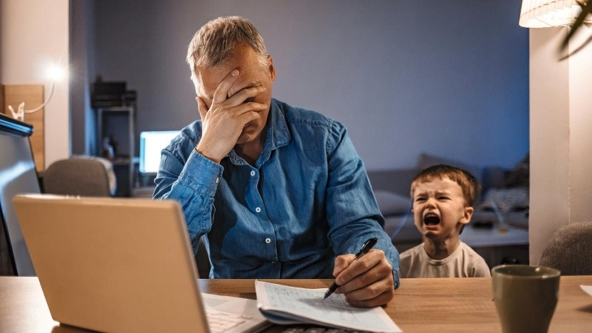 Der Stress im Homeoffice kann oft ziemlich hoch sein