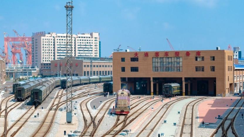 Bahnhof von Dalian: Nichts ging mehr.