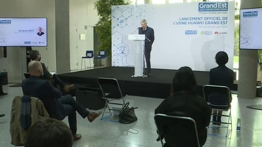 Die Pressekonferenz von Huawei und der Regionalregierung
