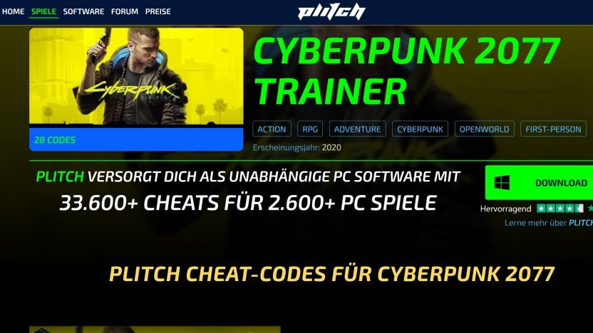 Webseite Plitch