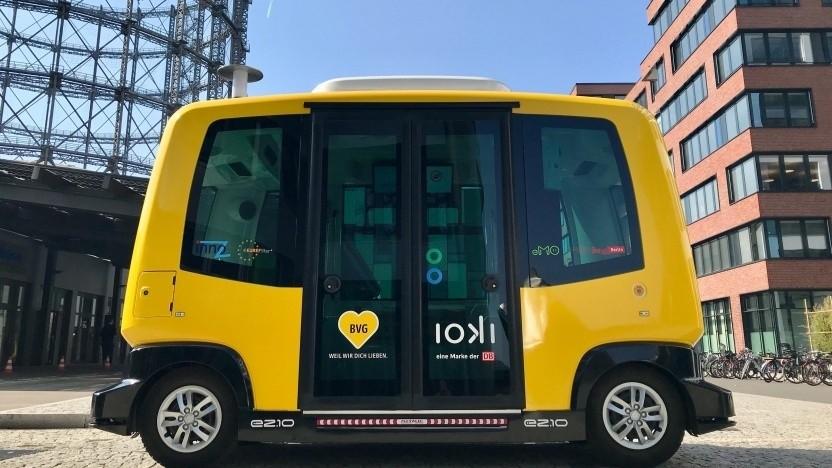 Solche autonomen Kleinbusse sollen künftig aus der Ferne überwacht werden können.