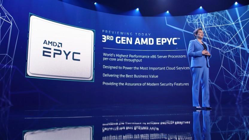 AMD-Chefin Lisa Su spricht über die Epyc 7003.