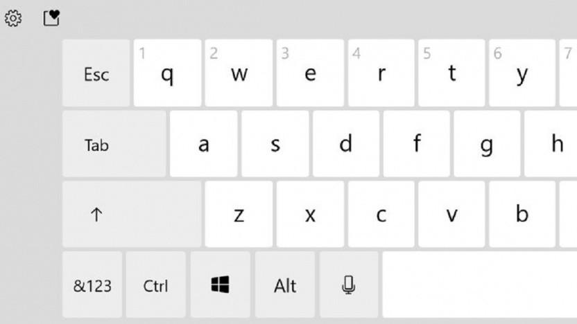 Windows 10 erhält eine bessere Touch-Tastatur mit Windows-Taste.