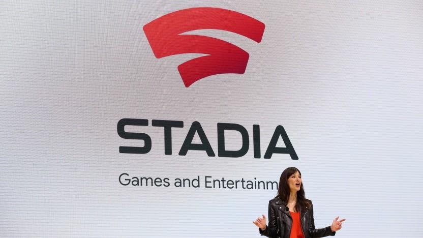 Jade Raymond bei einer Veranstaltung von Google Stadia