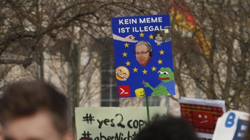 Gegen die EU-Richtlinie der Urheberrechtsreform gab es zahlreiche Proteste.