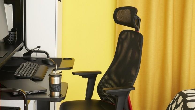 Ikea stellt die mit Asus entwickelten Gaming-Möbel vor.