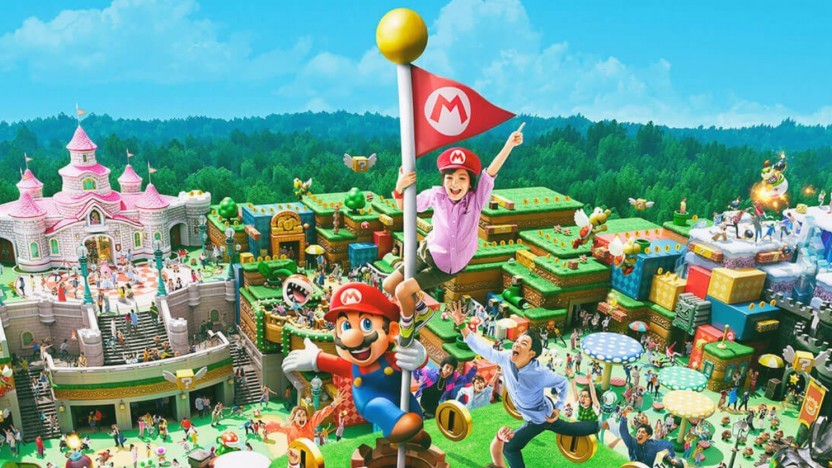Artwork der Super Nintendo World