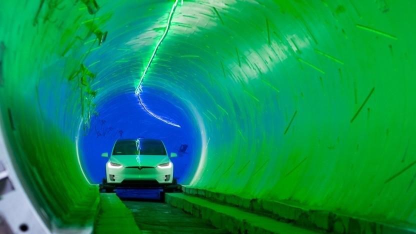 Ein Tunnel von The Boring Company