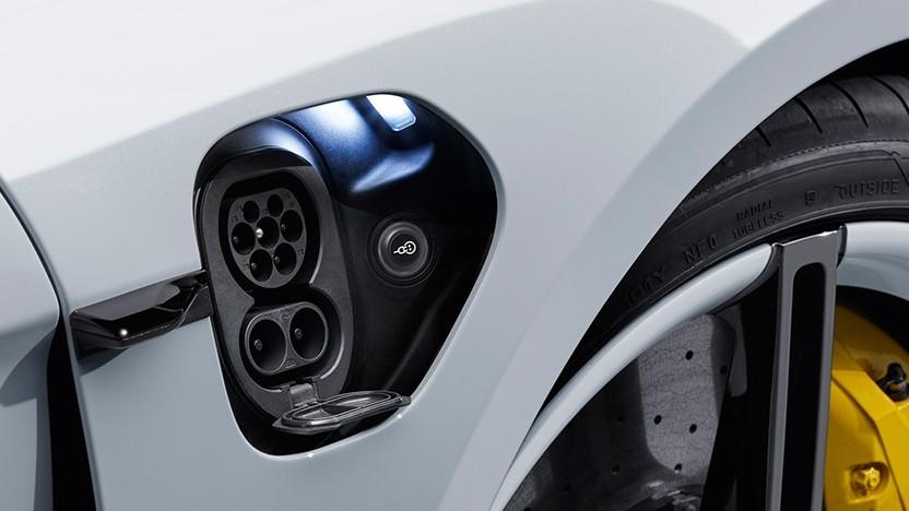 Ladeanschluss an einem Porsche (Symbolbild)