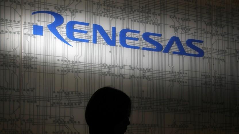 Renesas-Logo in Tokyo