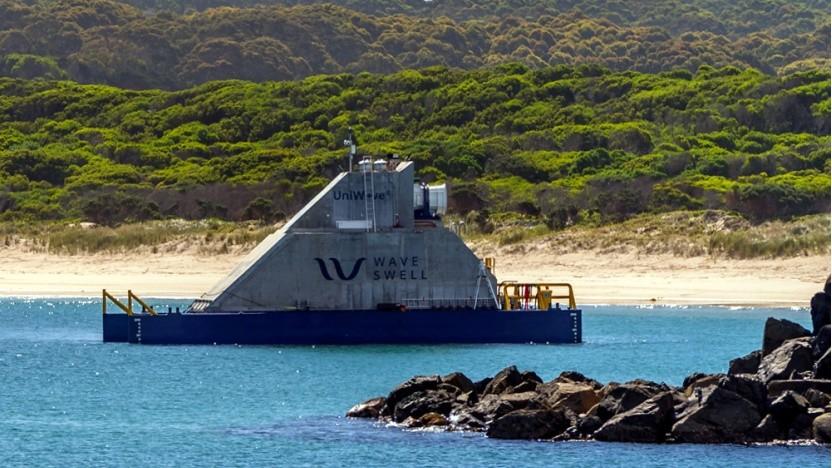 Uniwave vor der Küste von King Island: Daten über die Stromproduktion bei unterschiedlichen Wellenhöhen.