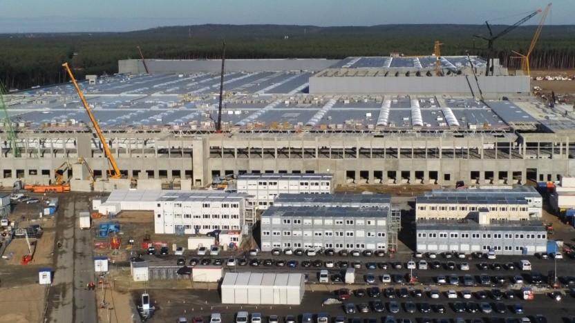 Tesla-Fabrik im Januar 2021