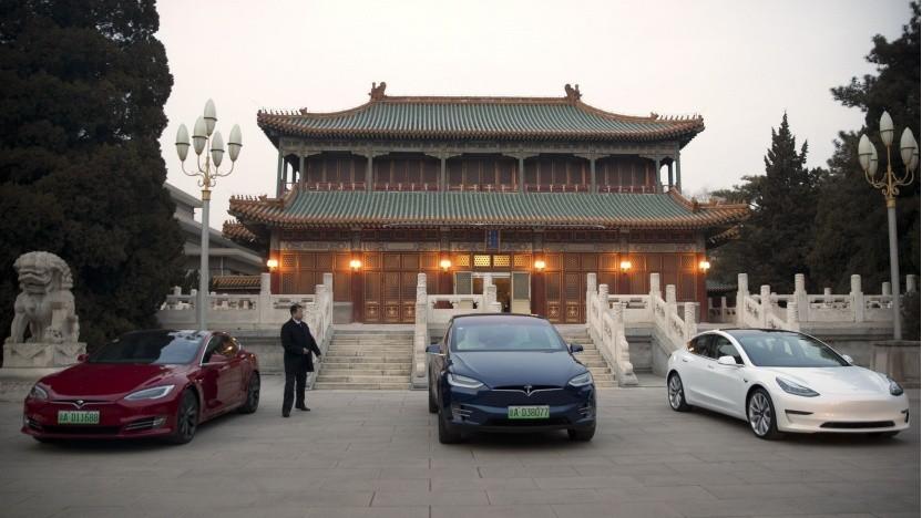 Elektroautos von Tesla in China: Mehr als 20 Prozent des Umsatzes machte Tesla 2020 in China.