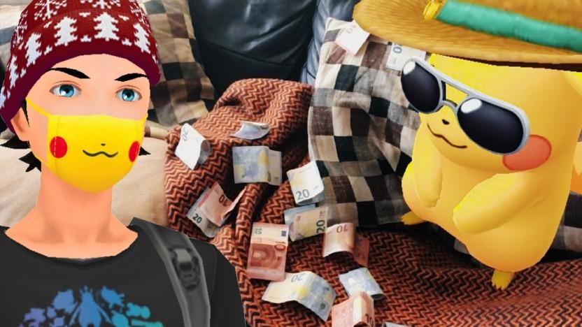 Die Pikachu-Gesichtsmaske in Pokémon Go kostet 1,50 Euro.