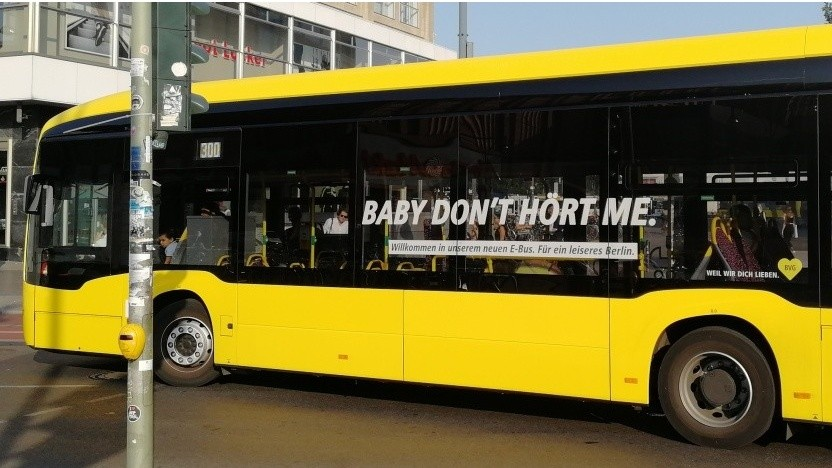 Ein Elektrobus der BVG
