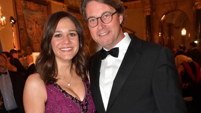 Julia Reuss im Januar 2020 mit ihrem Lebenspartner Andreas Scheuer