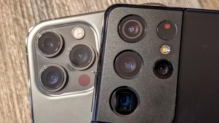 Die Kamerasysteme des iPhone 12 Pro Max und Galaxy S21 Ultra