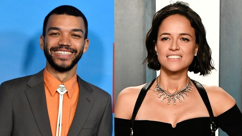 Justice Smith (links) und Michelle Rodriguez (rechts) sind beim D&D-Film dabei.