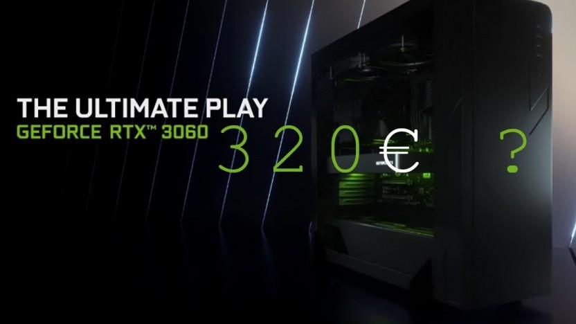 Die Geforce RTX 3060 soll zum Start 320 Euro kosten.