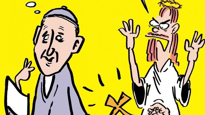 Wegen dieser Papst-Karikatur liegt das Titanic-Magazin mit Google im Streit.