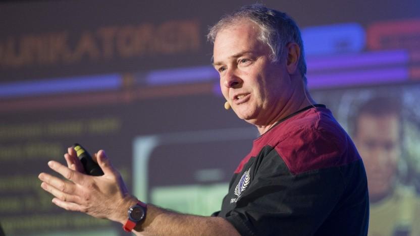 Hubert Zitt bei einem Vortrag