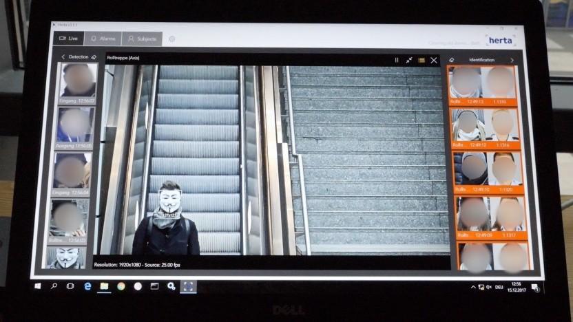 Test mit automatisierter Gesichtserkennung am Berliner Bahnhof Südkreuz
