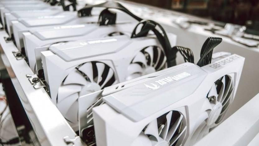 Mehrere Geforce RTX 3070 im Mining-Rig