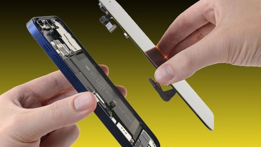 Ein zerlegtes iPhone 12 (Symbolbild)