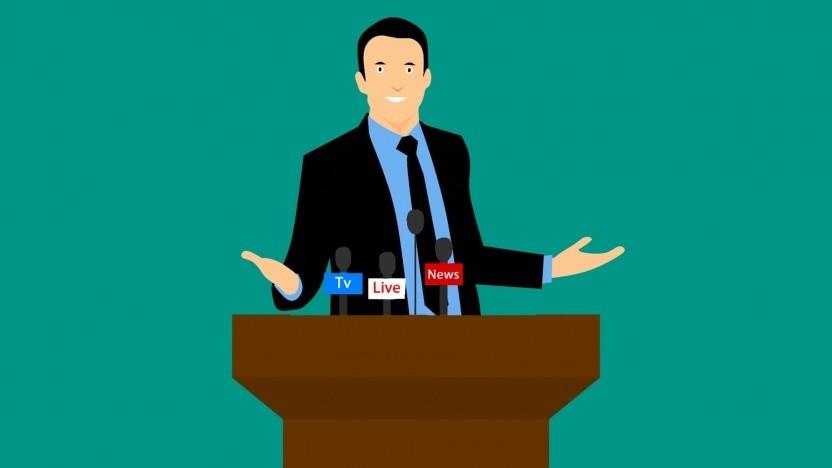 Eine Online-Pressekonferenz durfte nicht live übertragen werden.