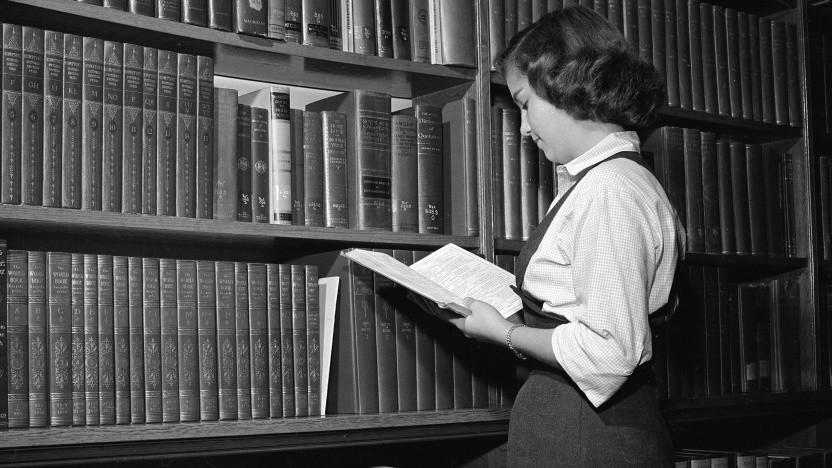 US-Bibliothek im Jahr 1955