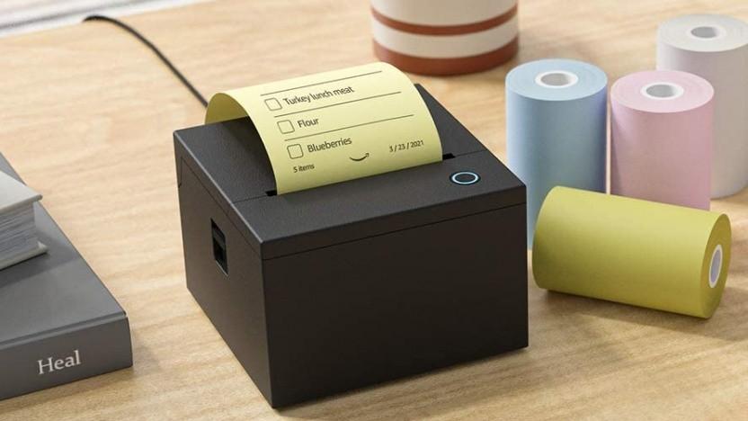 Dieser Notizzetteldrucker für Echo-Lautsprecher wird gebaut.