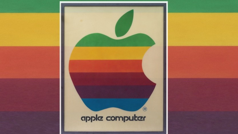 Werbeschild eines Apple-Ladens von 1978