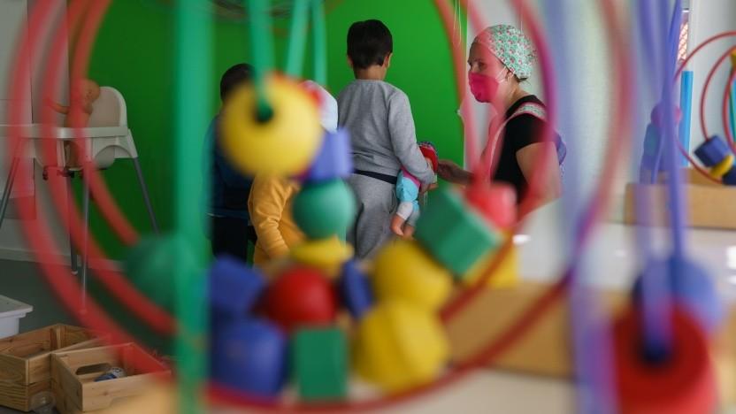 Kindergarten aus der Überwachungsperspektive