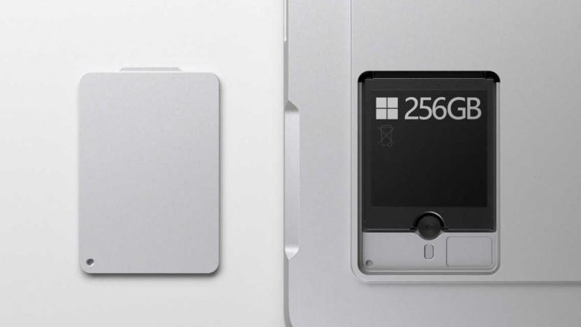 Die austauschbare SSD des Surface Pro 7+