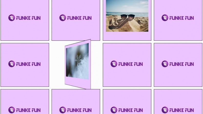 Ein Browser-Memory-Gewinnspiel auf Funke.fun
