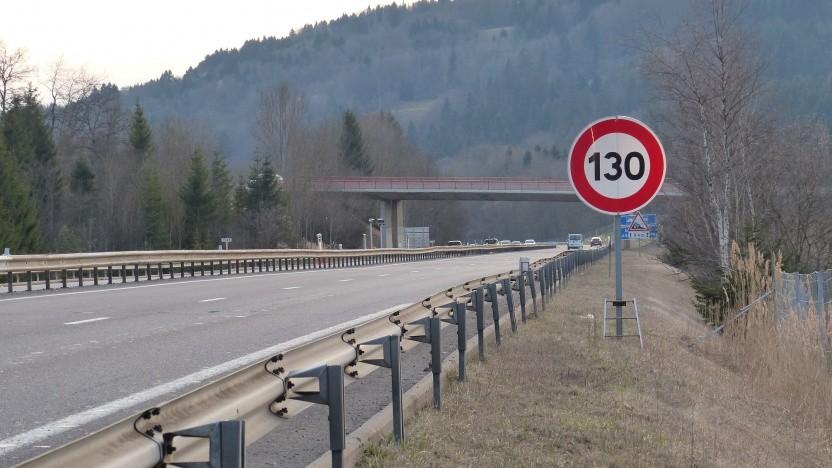 Tempolimit 130 an einer französischen Autobahn