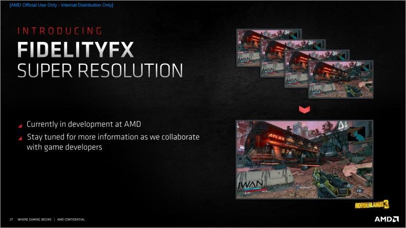 FidelityFX Super Resolution soll die Famerate steigern.