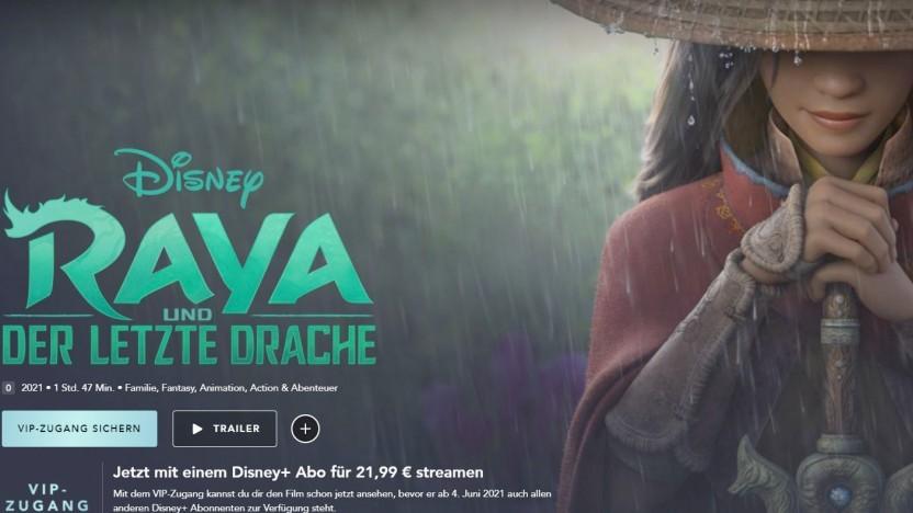 Raya und der letzte Drache als VIP-Zugang auf Disney+