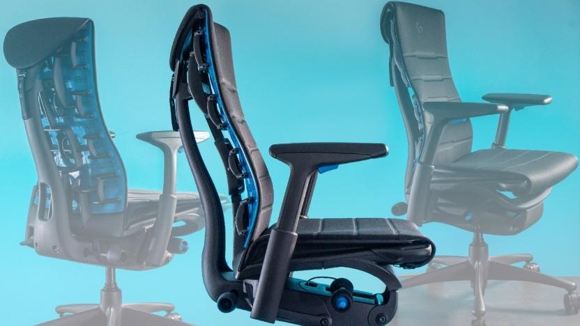 Der Herman Miller Embody Gaming Chair kommt im Logitech-Blau.