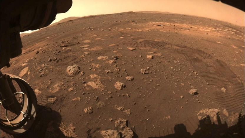 Die Aussicht des Mars-Rovers am 4. März.