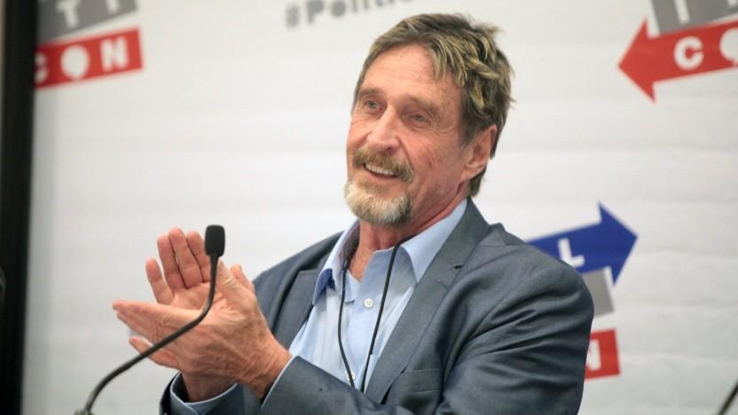 John McAfee auf einer Konferenz im Jahr 2016.