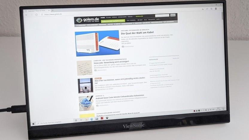 Der Viewsonic VG1655 ist ein leichter und tragbarer Monitor für unterwegs.