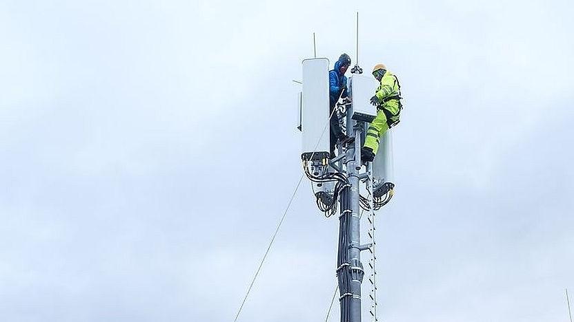 Telekom baut 5G aus.