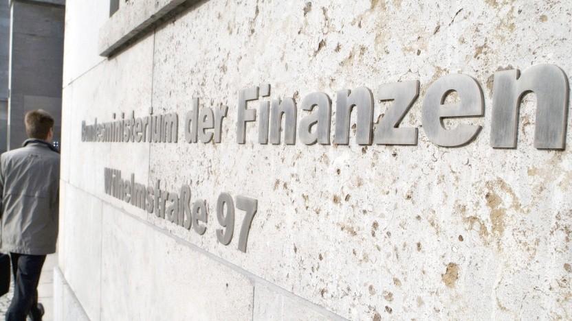 Eingang zum Finanzministerium