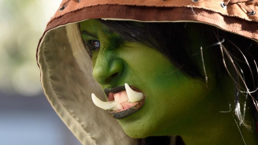 Fan bei der Premiere des Warcraft-Films (2016)