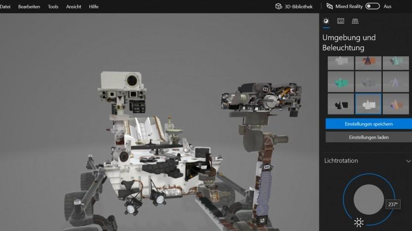 3D-Viewer zeigt diverse 3D-Modelle in der Vorschau an.